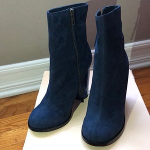 NEW W/ BOX - Aldo Blue Suede Boots